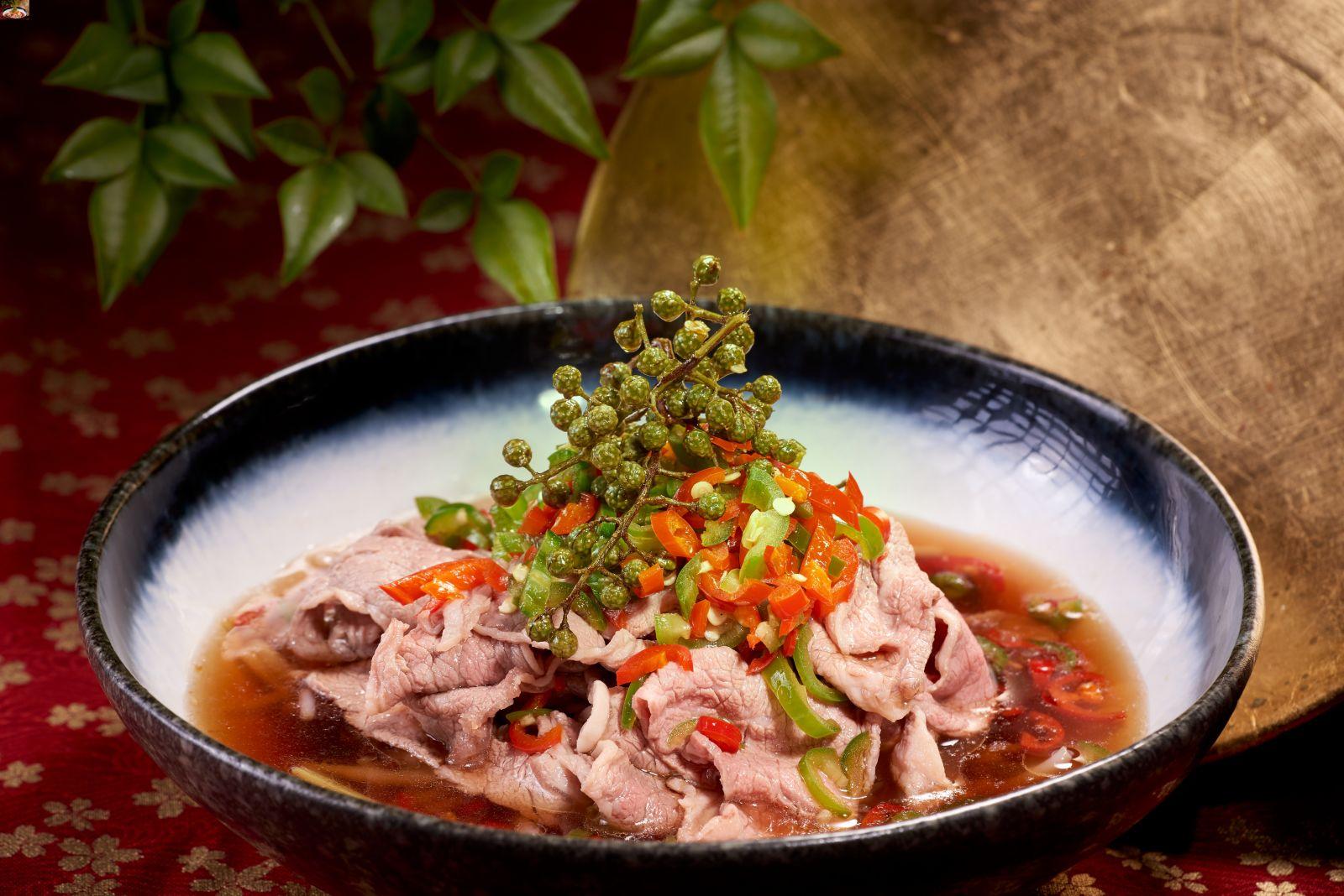 高雄國賓大飯店川菜廳鮮花椒薄牛肉