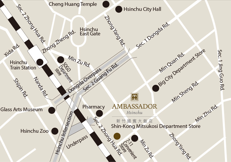 Ambassador-Hotel-Hsinchu-Location-Map