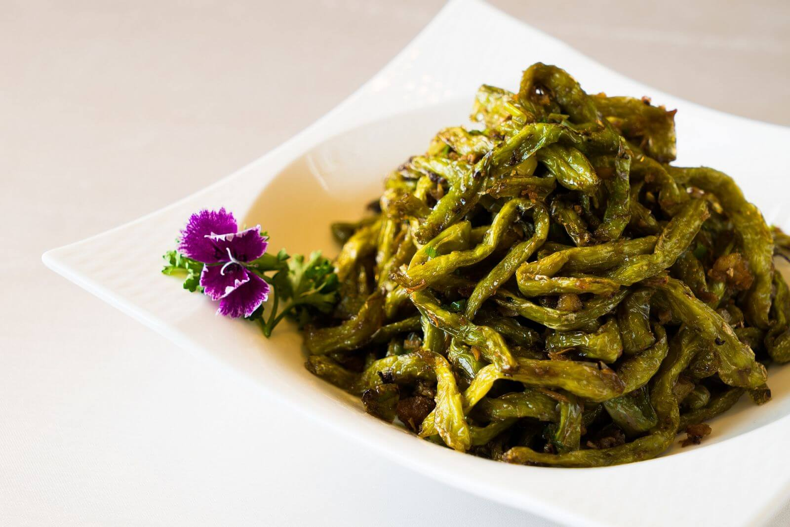 インゲン豆の炒め物