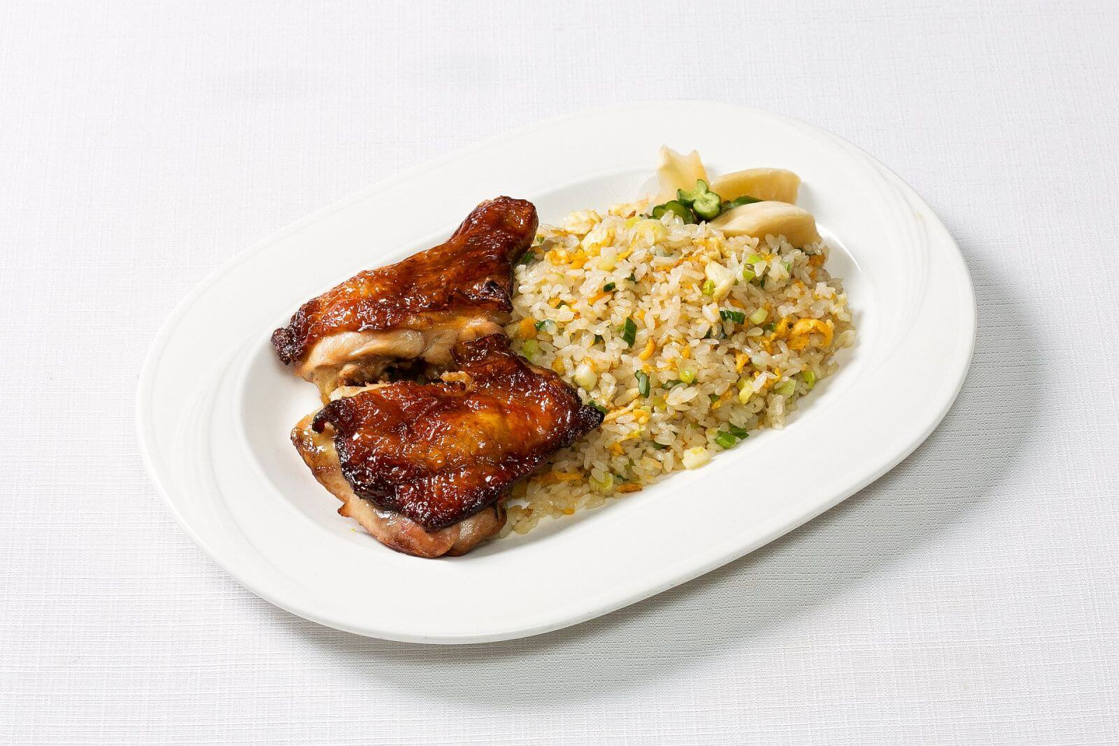 Ambassador Hotel Taipei Room Service Fried Rice with Roast Chicken