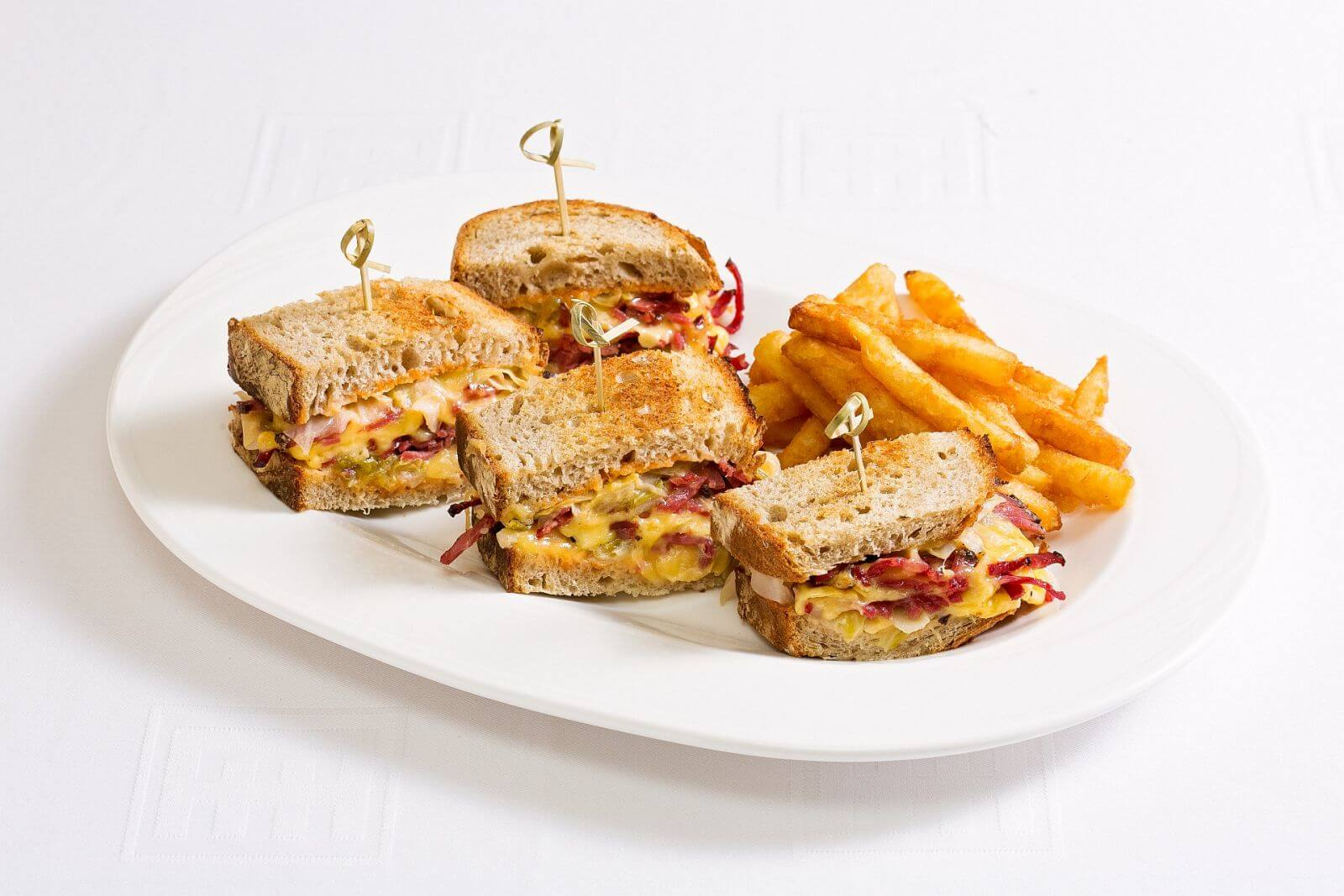 Ambassador Hotel Taipei Room Service Reuben Sandwich with French Fries