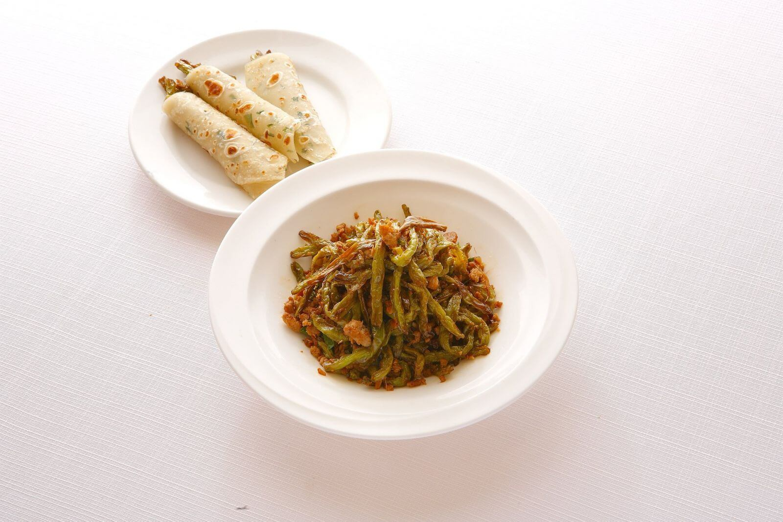 Ambassador Hotel Taipei Szechuan Court Dry Fried String Beans with Pancakes