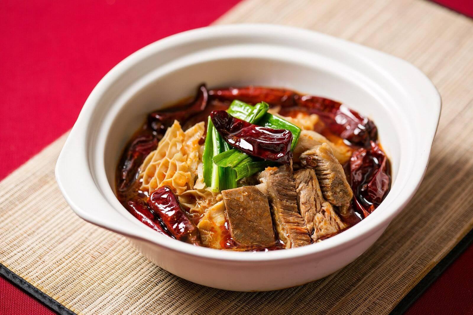 台北國賓大飯店川菜廳水煮牛三寶