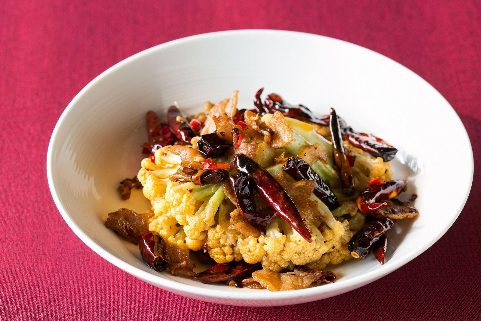台北國賓大飯店川菜廳乾鍋花椰菜