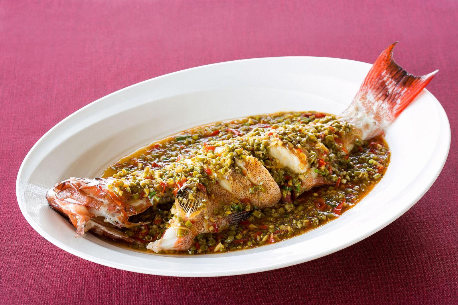 台北國賓大飯店川菜廳泡椒燒紅斑