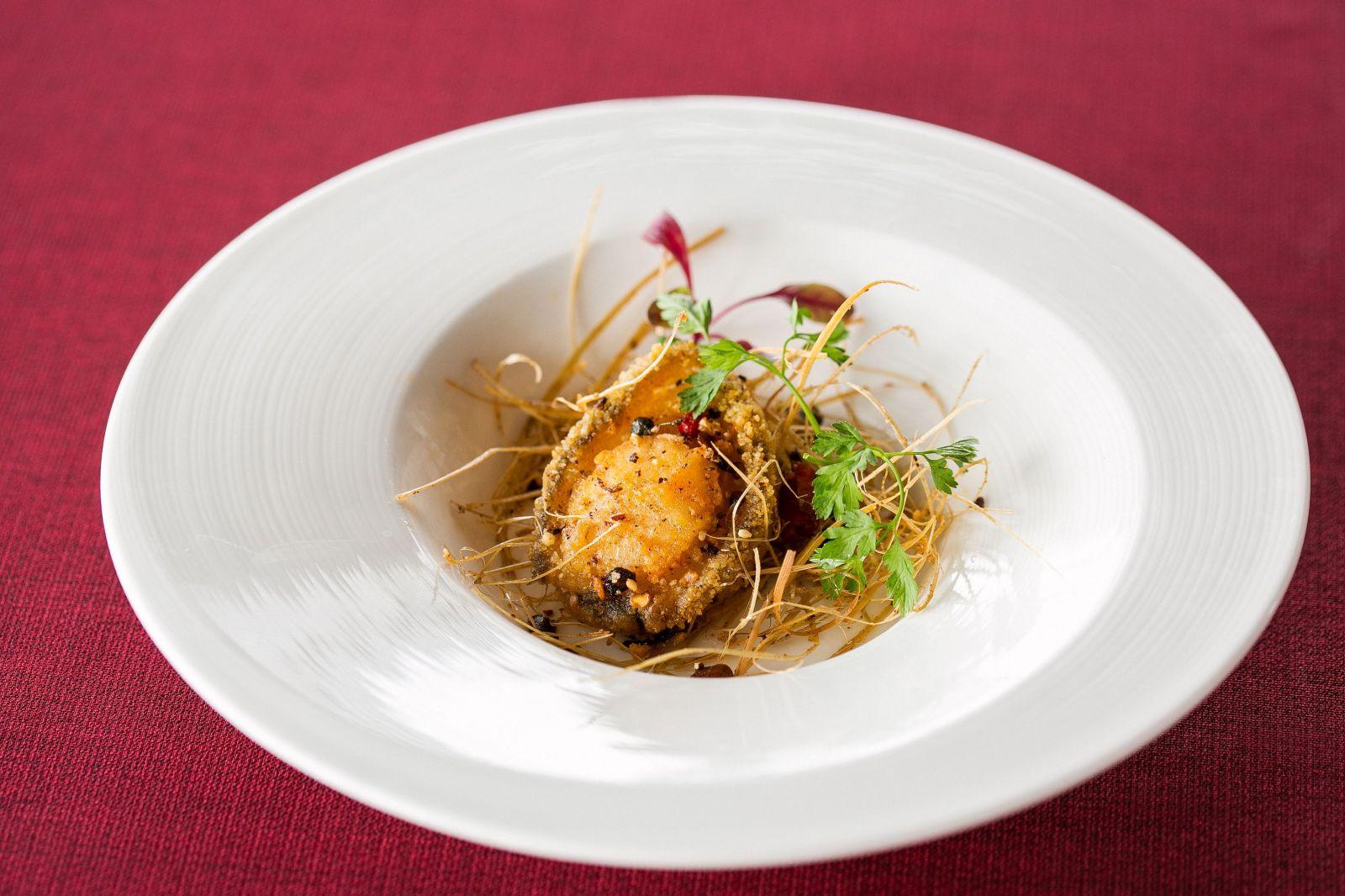 台北國賓大飯店川菜廳香茅鮑魚